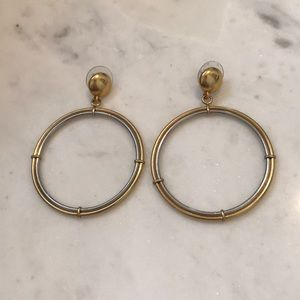 Jewelmint two toned gold and silver hoop